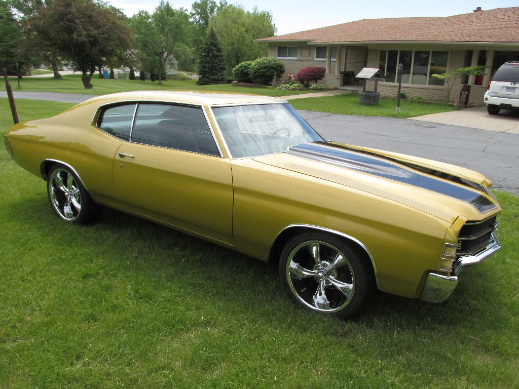 Sold 1971 chevelle ss resto mod ross customs for Placer motors used cars