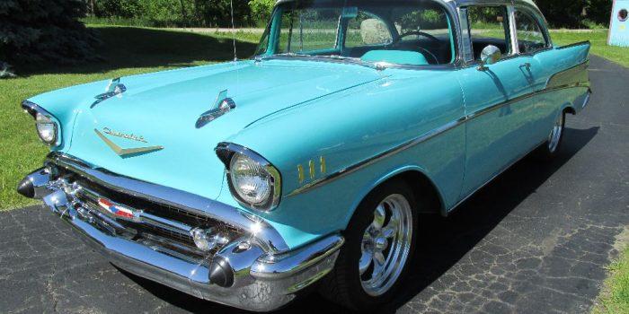 SOLD - 1957 Chevy Bel Air 2 Door Post - $33,500