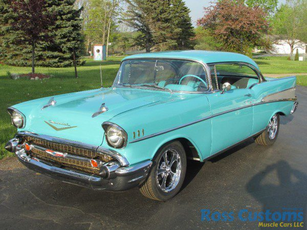 Sold 1957 chevy belair 2 door hardtop ross customs for 1957 chevy belair 2 door