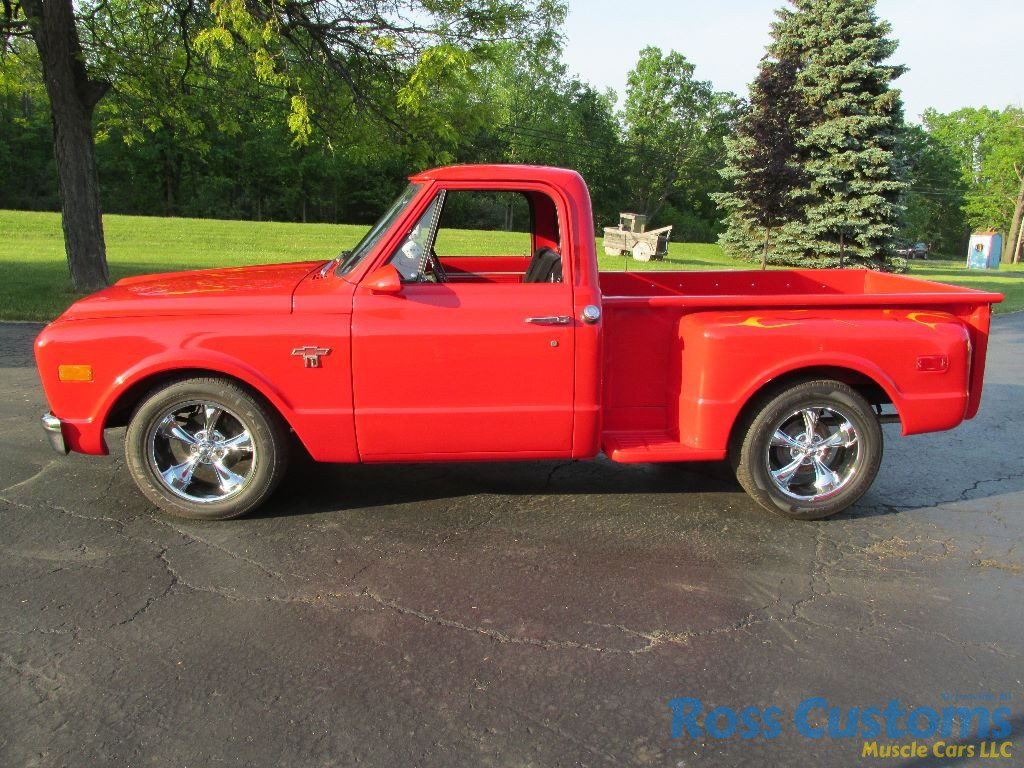 Sold 1968 Chevy Short Box Stepside Ross Customs C10 We