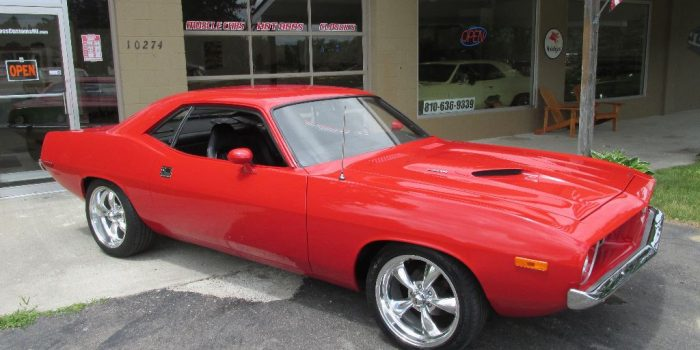 SOLD SOLD  - 1973 Plymouth Cuda 340 - 4 speed - $32,900