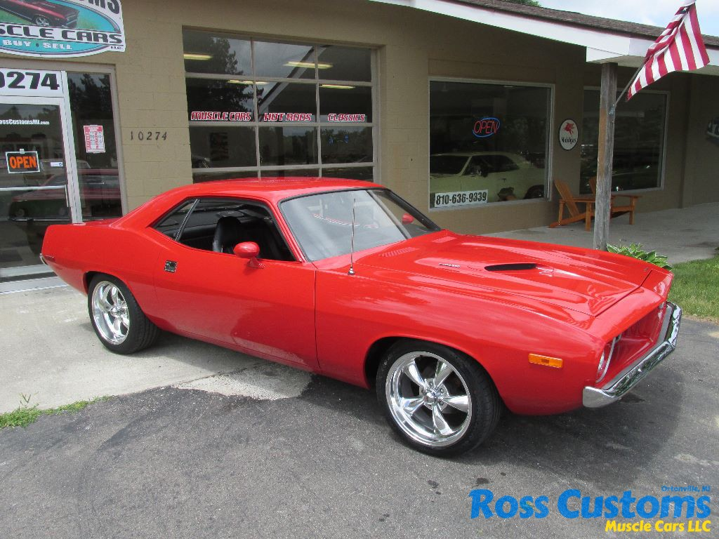 SOLD SOLD – 1973 Plymouth Cuda 340 – 4 speed – $32,900 « Ross Customs