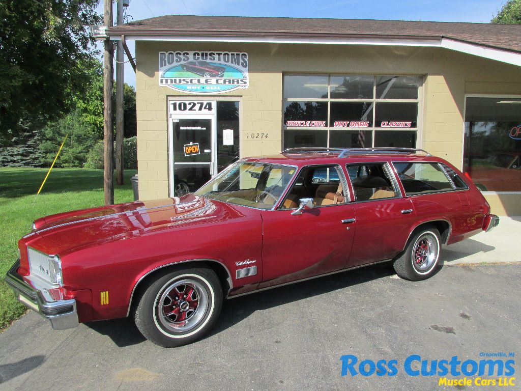 SOLD SOLD – 1975 Oldsmobile Cutlass Vista Cruiser Station Wagon ...