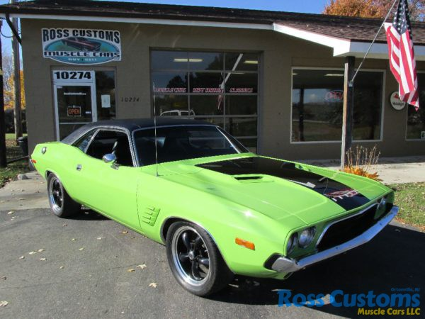This Is A Clean Rust Free 74 Challenger With Fuel Injected 440 That Has Under Gone Body Up Restoration Painted Show Quality Sub Lime Green Black