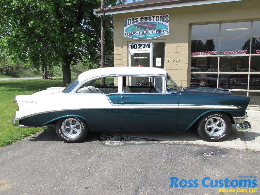 1956 chevrolet bel air custom flat red paint youtube - 026