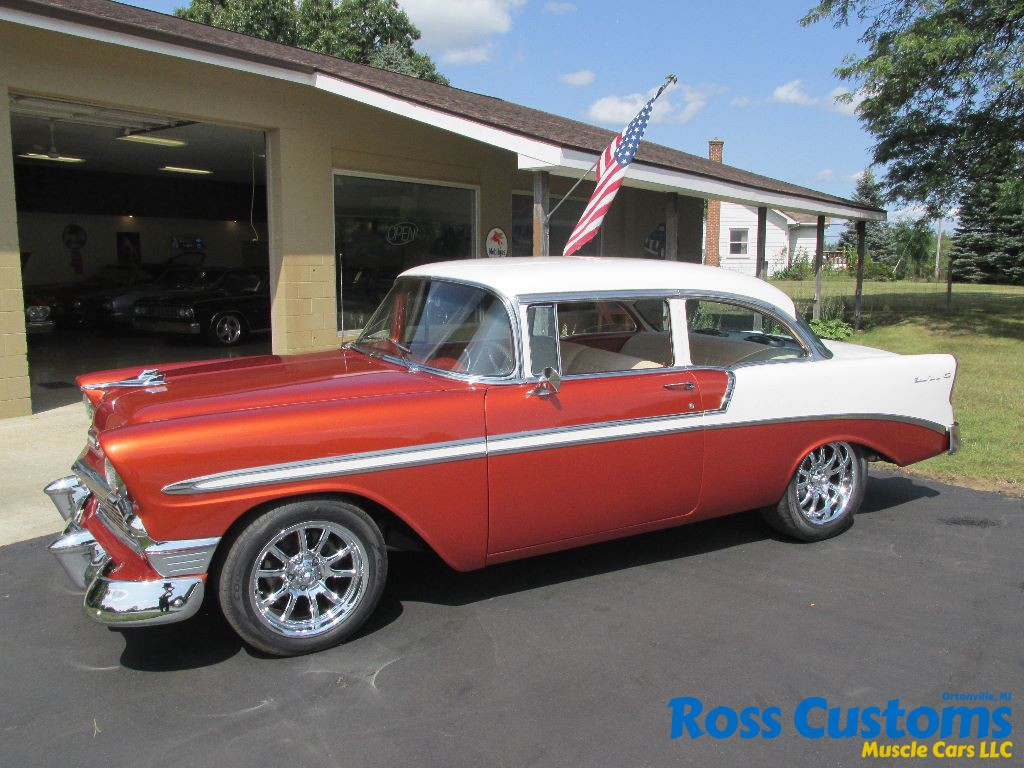1956 chevrolet bel air custom flat red paint youtube - 003