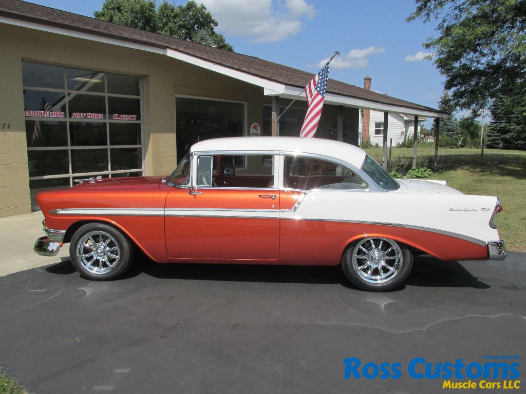 1956 chevrolet bel air custom flat red paint youtube - 010