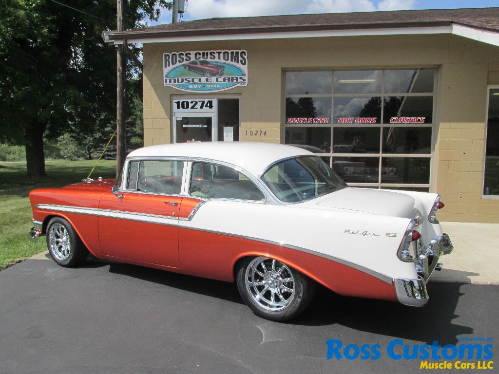 1956 chevrolet bel air custom flat red paint youtube - 015