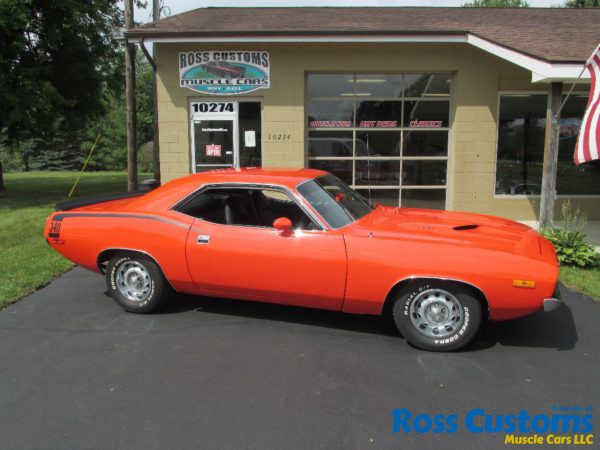 Sold Sold 1972 Plymouth Cuda 340 171 Ross Customs