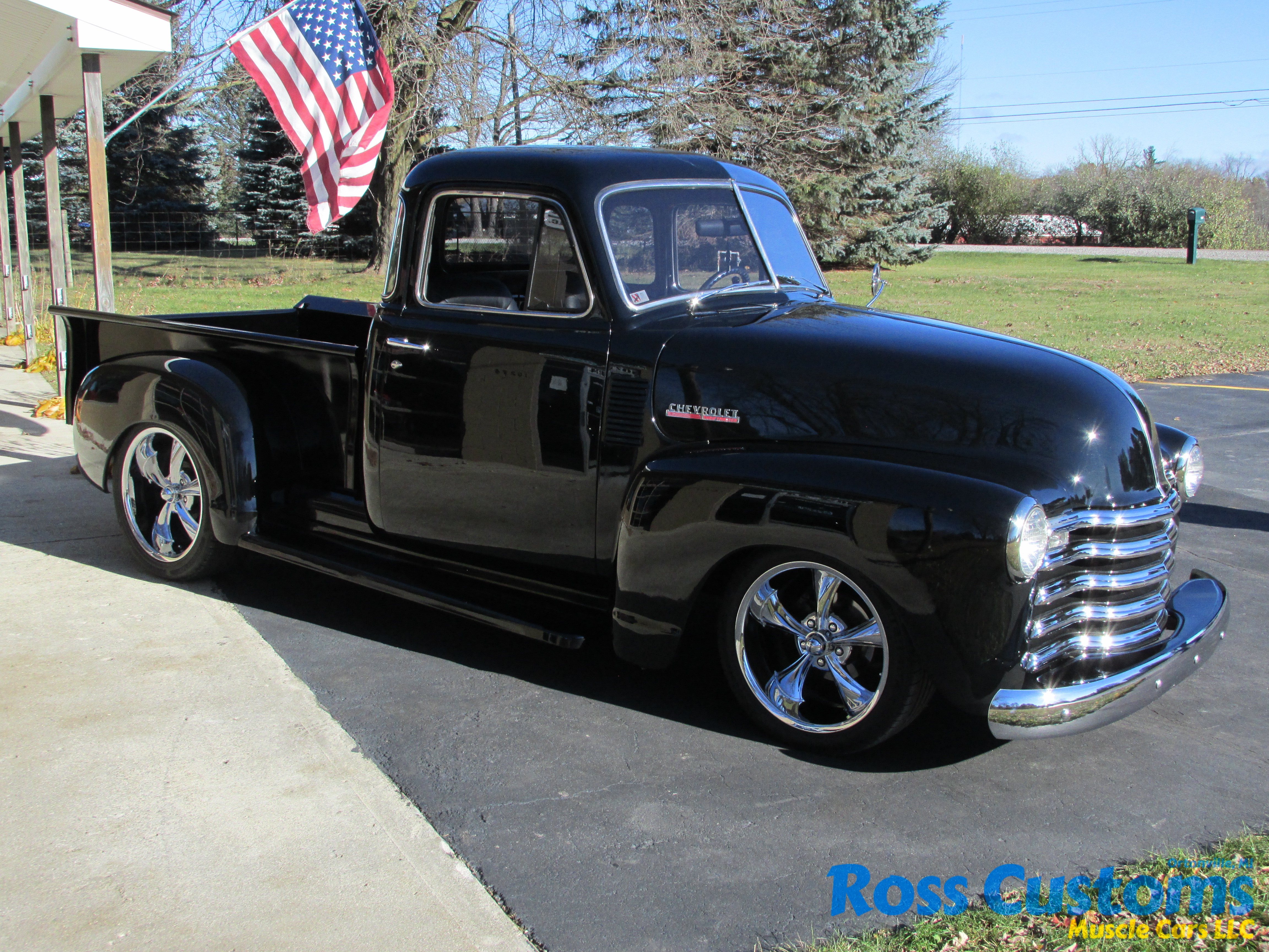 Sold Cars Ross Customs 1949 Chevy Truck 5 Window 1950 Chevrolet 3100 Short Box Pickup
