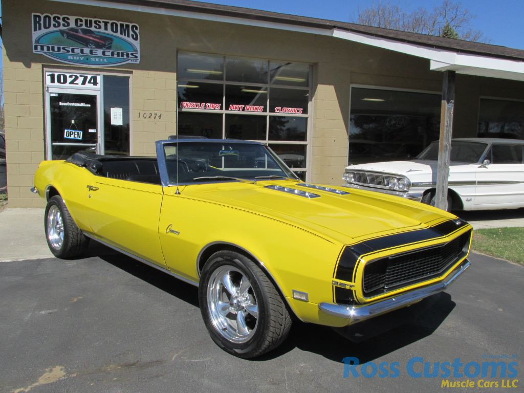 Sold 1968 Chevrolet Camaro Rs Ss Convertible Ross Customs 327