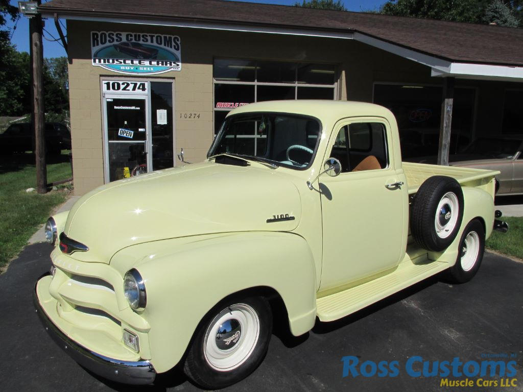 Sold 1954 Chevrolet 3100 Short Box Pickup Ross Customs Chevy Truck Wiring Harness Share This