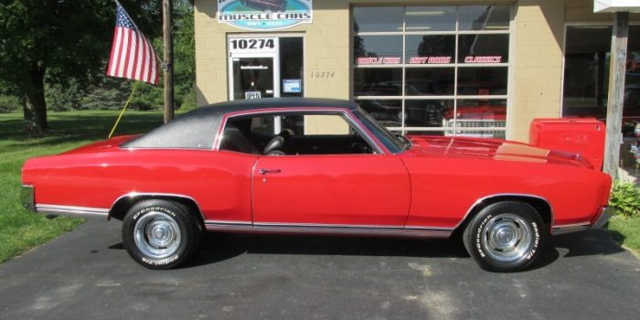 SOLD SOLD - 1971 Chevrolet Monte Carlo - #'s matching